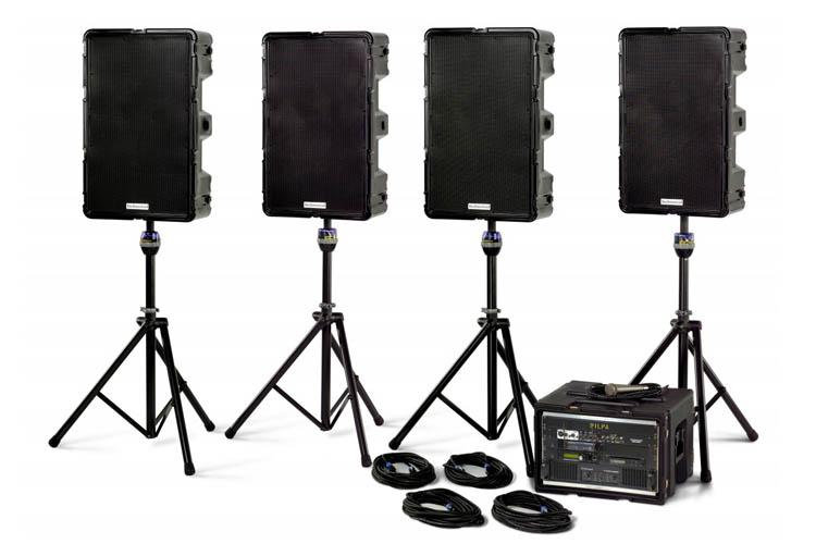 PA System 4 Speaker Audio Malta