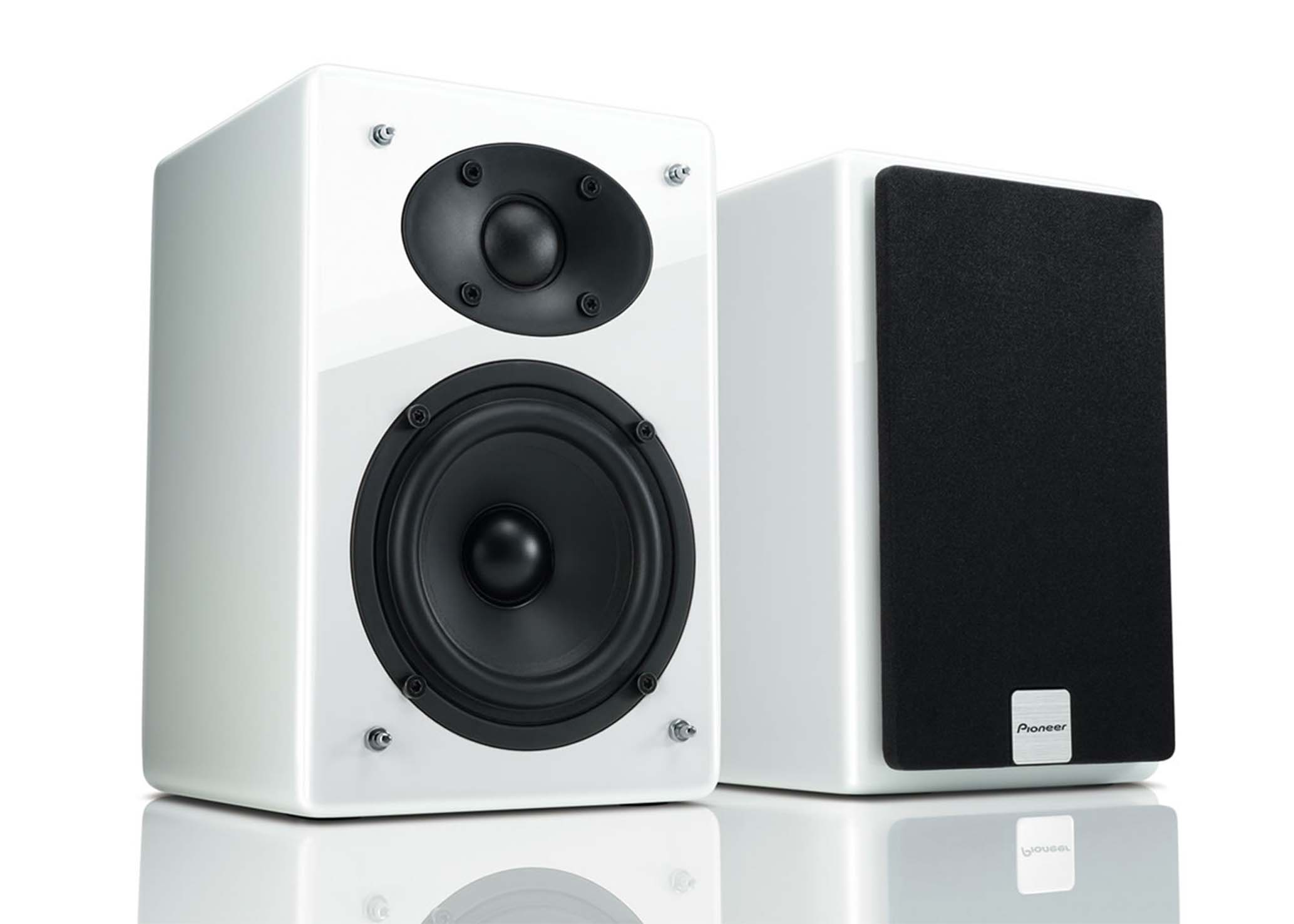 PIONEER 50W Wireless Bluetooth Bookshelf Speaker System White